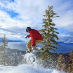 Snowboarder at Heavenly