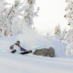 Skiing powder at Heavenly