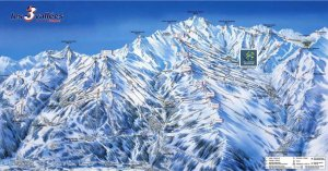 Ski Val Thorens France Trail Map