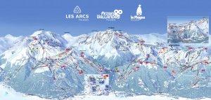 Ski La Plagne France Europe Trail Map