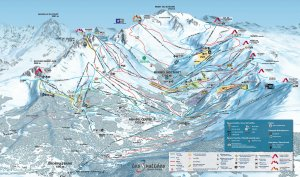 Meribel Ski Resort, France trail map