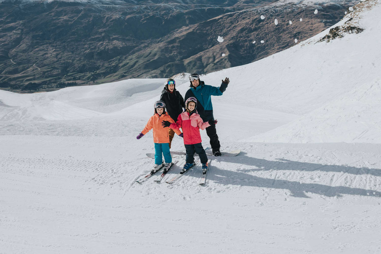 Ski Queenstown Cardrona family ski holiday